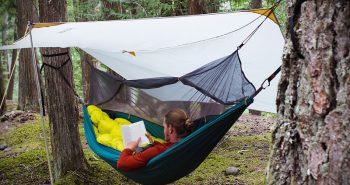 Camparea cu hamacul pe vreme potrivnica – Cum mentii corpul cald si uscat?