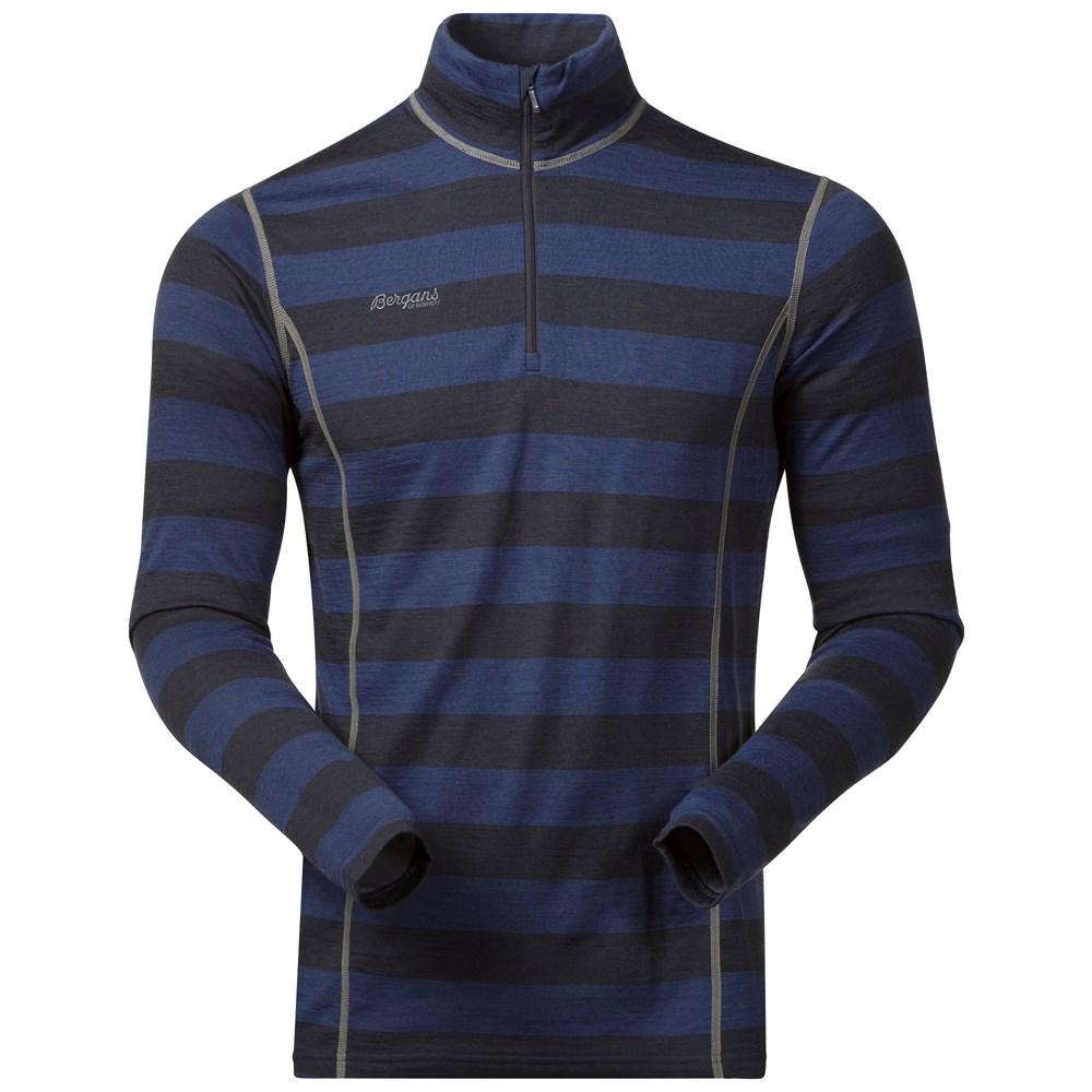 Bluza de corp 80% Lana Merinos Bergans Akeleie Half-Zip - Navy