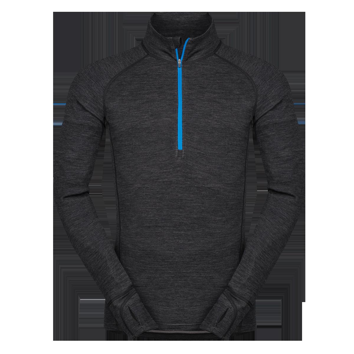 Zajo Bluza de corp din lana merino ZAJO Bergen Half Zip - Negru