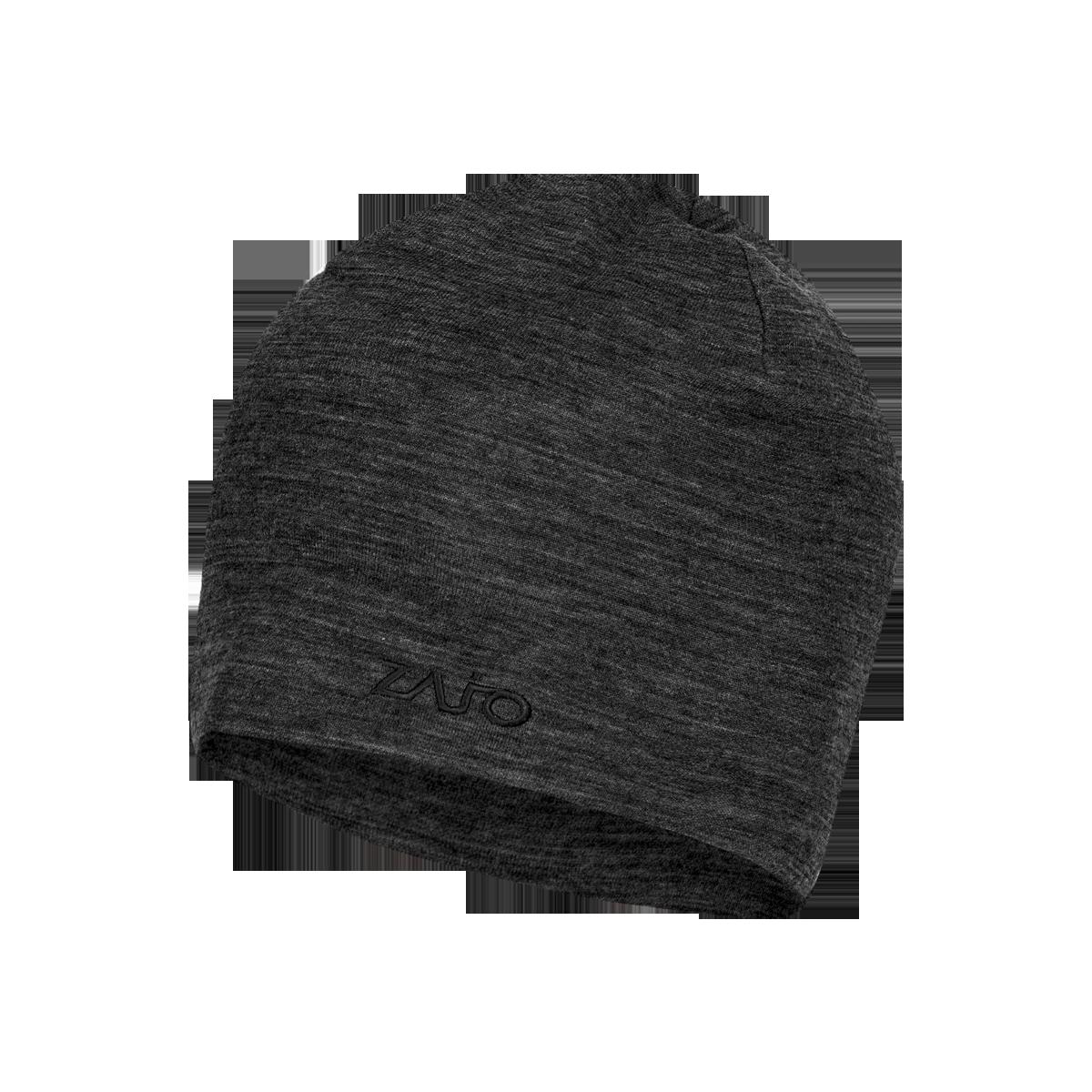 Caciula din lana merino si bambus ZAJO Hals Typo – Negru de la proalpin.ro
