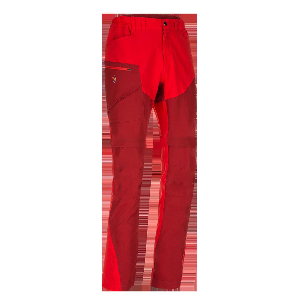 Pantaloni de trekking convertibili ZAJO Magnet Neo Zip Off - Rosu