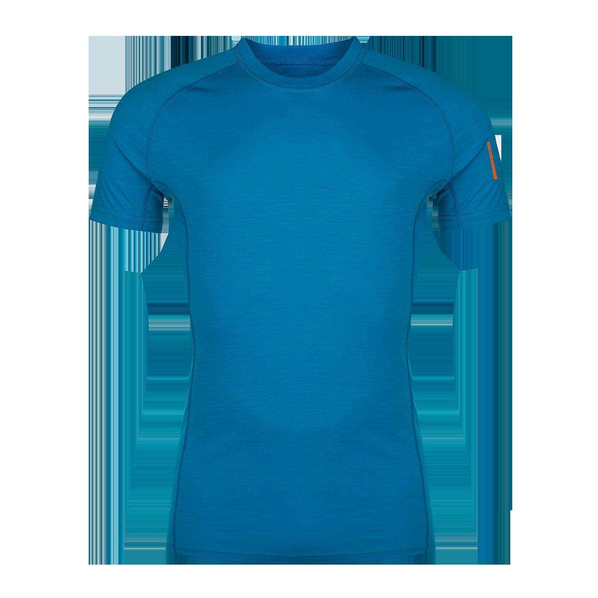 Zajo Tricou din lana merino ZAJO Bjorn - Albastru