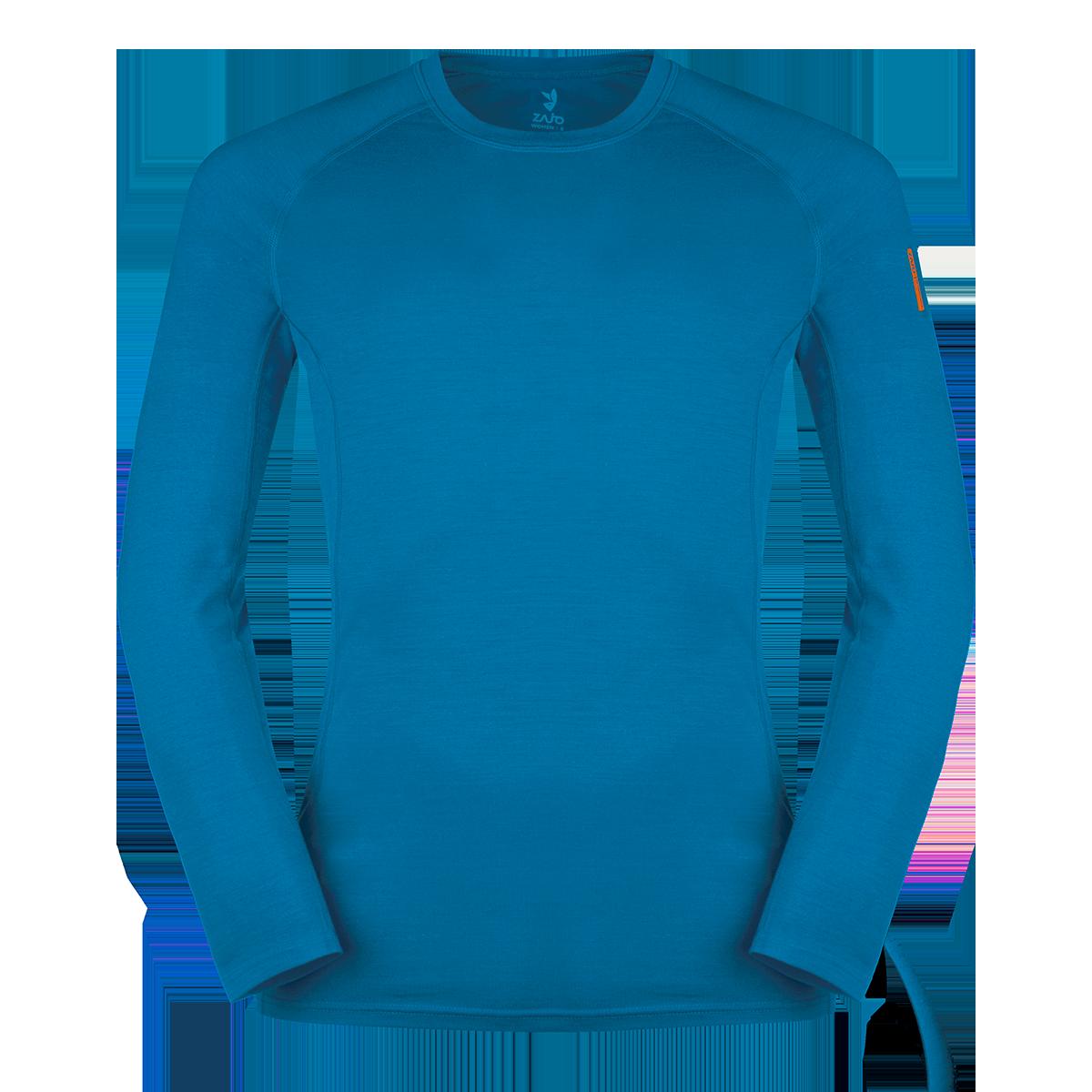Zajo Bluza de corp din lana merino ZAJO Bjorn - Albastru