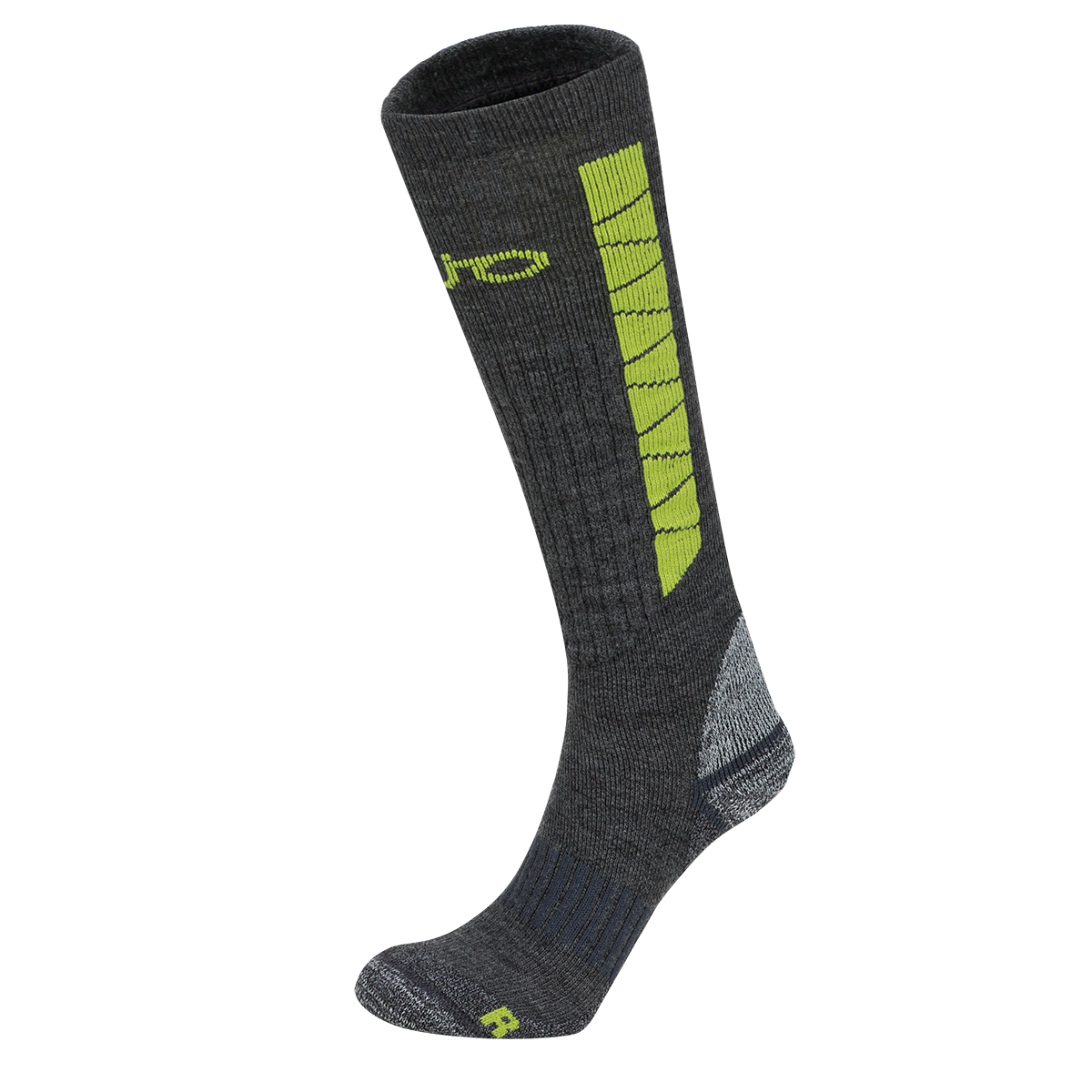 Sosete De Ski Zajo Heavy Outdoor Long - Gri/lime