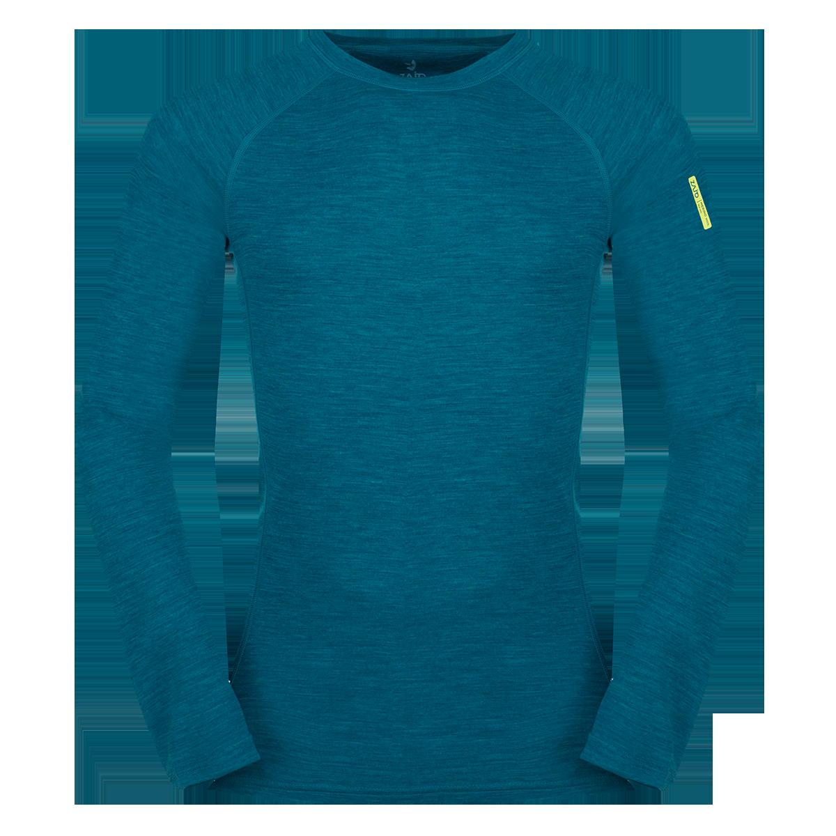 Zajo Bluza de corp din lana merino ZAJO Bergen - Albastru
