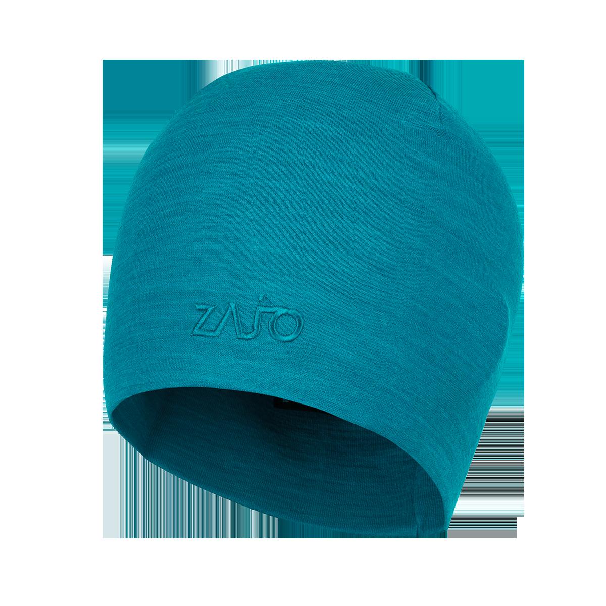 Zajo Caciula din lana merino si bambus ZAJO Hals Typo - Bleu