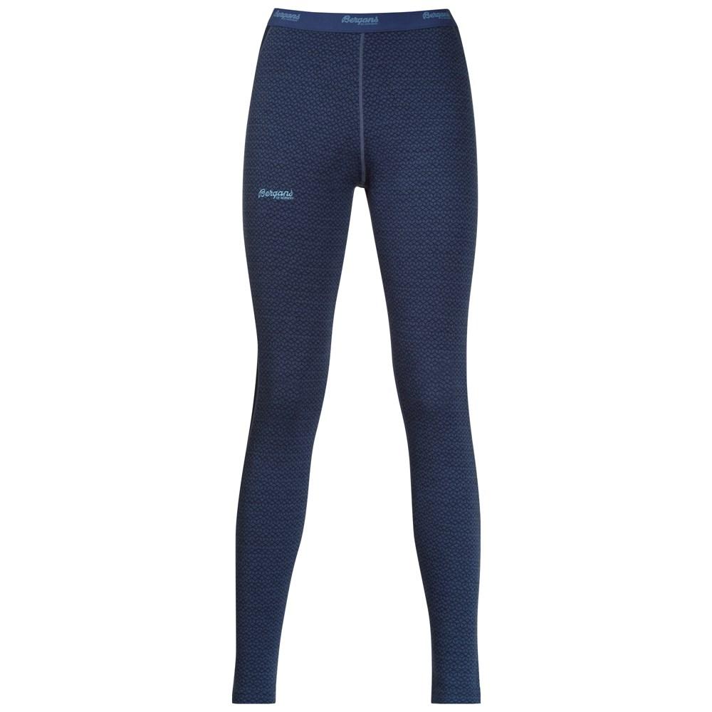 Pantaloni de corp Bergans Snoull Lady - 100% Merino Wool - Albastru