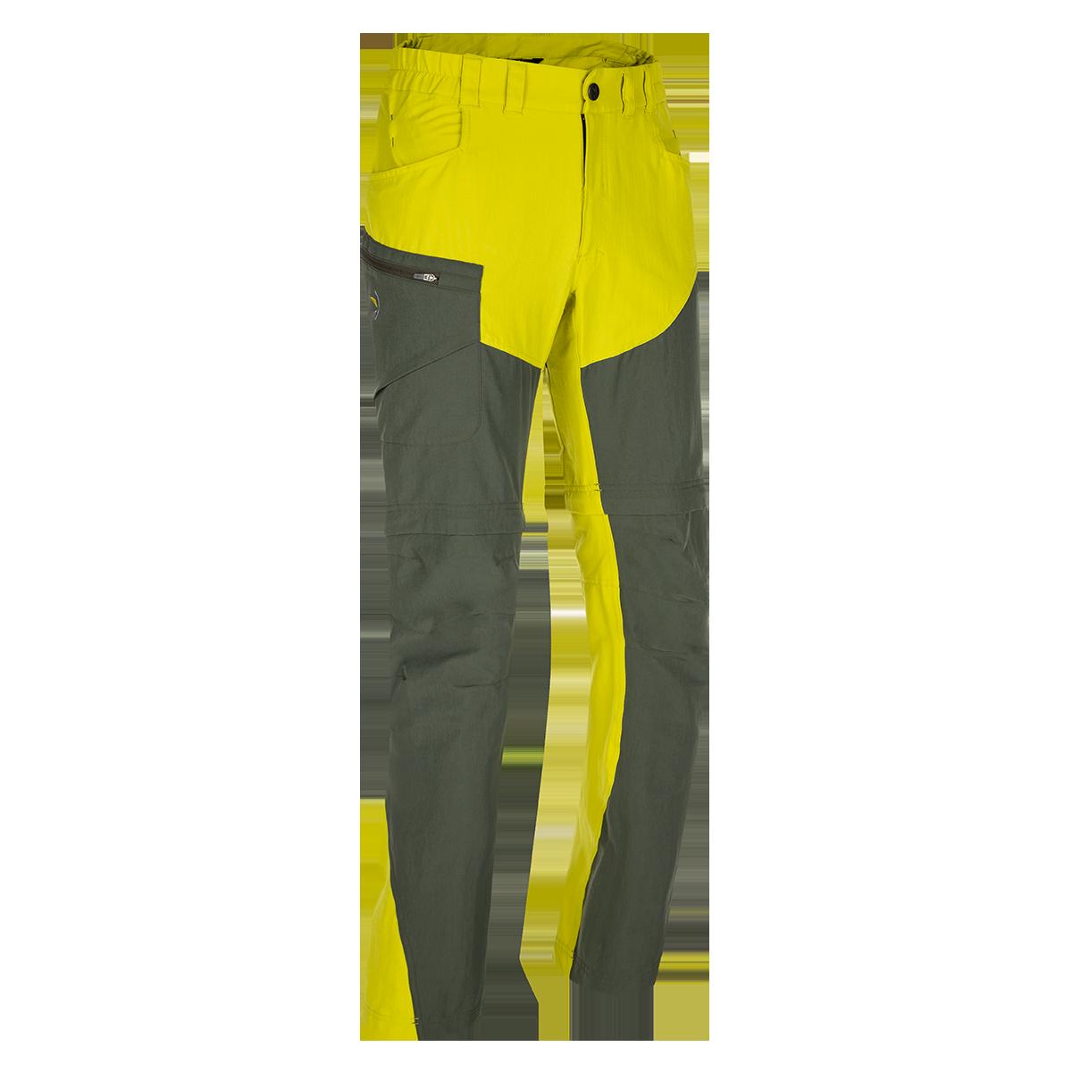 Zajo Pantaloni de trekking convertibili ZAJO Magnet Neo Zip Off - Lime