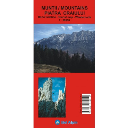Harta Muntii Piatra Craiului - harta, ture munte, echipament munte, echipament montan la proalpin.ro