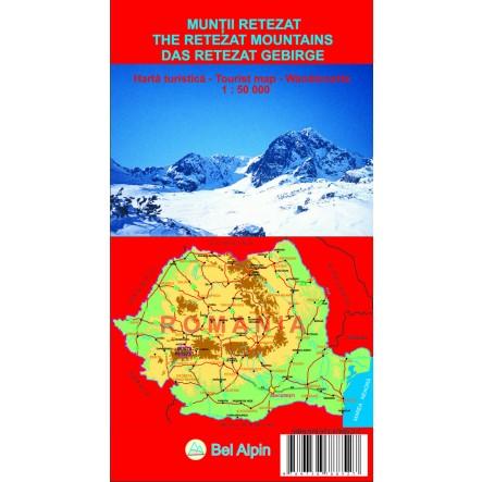 Harta Muntii Retezat - harta, ture munte, echipament munte, echipament montan la proalpin.ro