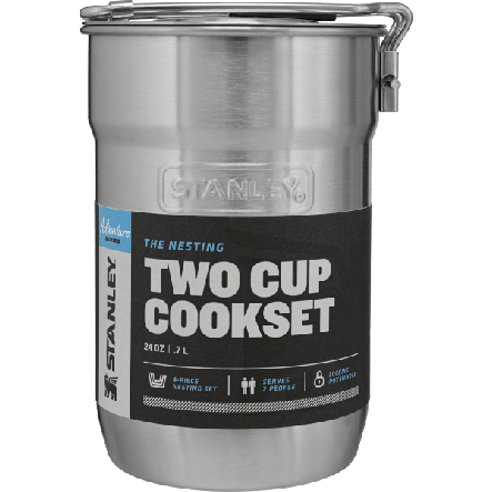 Set vase camping 709 ml + 2 cani incluse Stanley Adventure – Argintiu
