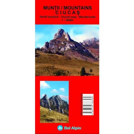 Harta Muntii Bucegi - harta, ture munte, echipament munte, echipament montan