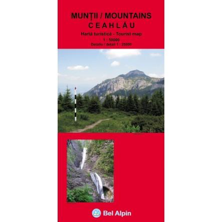 Harta Masivul Ceahlau - harta, ture munte, echipament munte, echipament montan la proalpin.ro