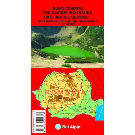 Harta Muntii Cindrel la proalpin.ro