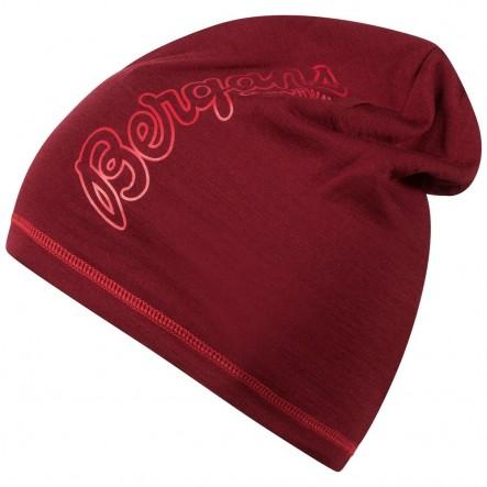 Caciula 100% Lana Merinos Bergans Bloom Wool - rosu