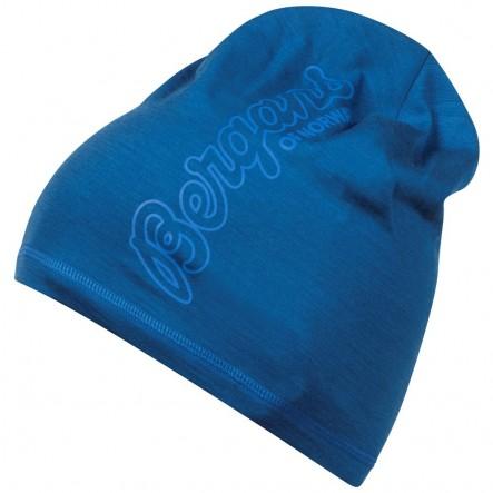 Caciula 100% Lana Merinos Bergans Bloom Wool - Bleu de la Bergans of Norway
