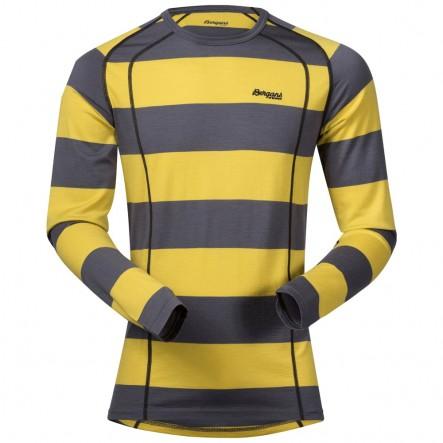 Bluza de corp 100% lana Merino Bergans Fjellrapp - Albastru