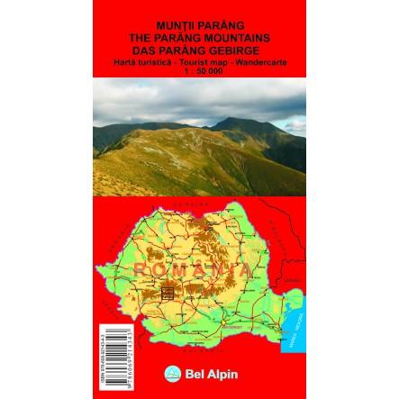 Harta Muntii Parang - harta, ture munte, echipament munte, echipament montan la proalpin.ro