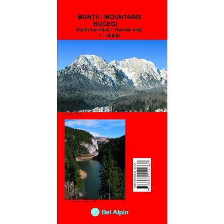 Harta Muntii Bucegi - harta, ture munte, echipament munte, echipament montan la proalpin.ro