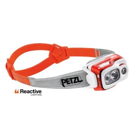 Lanterna frontala Petzl Reactive Swift RL 900 lumeni - Portocali
