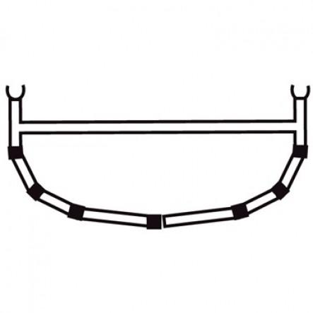 5-Tija transversala cu bara superioara pentru canoele Ally 15, 16.5, 18