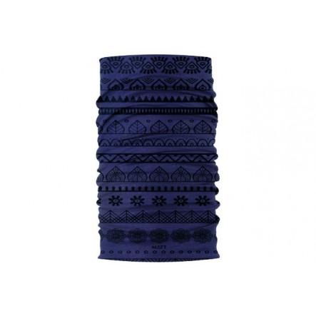 Esarfa Matt Merino Wool Navy Cenefa de la Matt