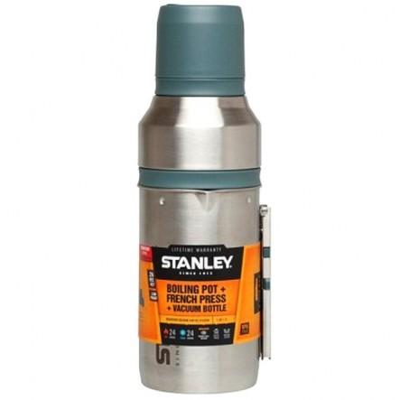 Set complet cafea si ceai Stanley Mountain Inox 1L - Argintiu