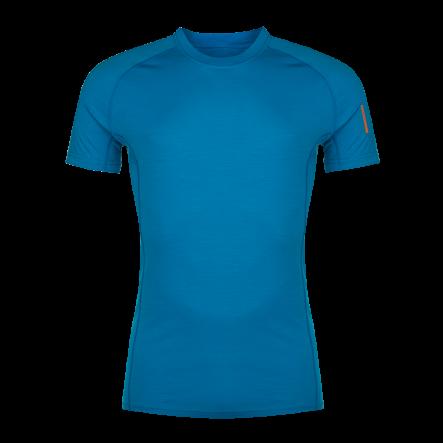 Tricou din lana merino ZAJO Bjorn - Albastru