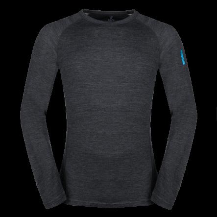 Bluza de corp din lana merino ZAJO Bergen - Negru