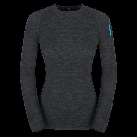 Bluza de corp din lana merino ZAJO Nora Lady - Negru