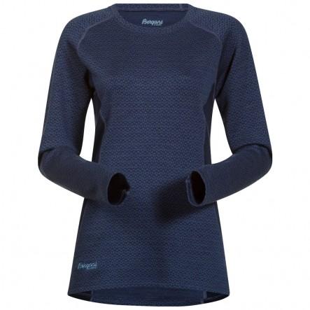 Bluza de corp Bergans Snoull Lady - 100% Merino Wool - Navy