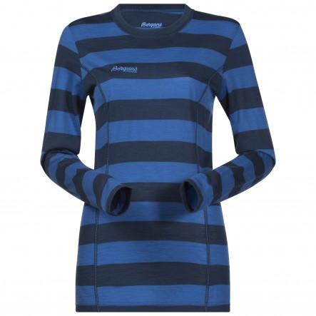 Bluza de corp 100% lana Merino Bergans Soleie Lady - Albastru