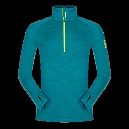 Bluza de corp din lana merino ZAJO Bergen Half Zip - Albastru de la Zajo