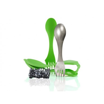 Set tacamuri Light My Fire Ultimate Spork Kit - Verde