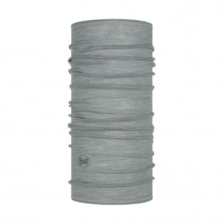 Bandana multifunctionala BUFF Lightweight Merino Wool - SOLID Light grey