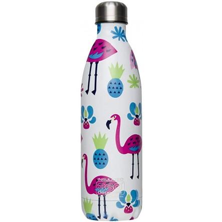 Bidon izolator inox 360 Degrees Flamingo 550ml