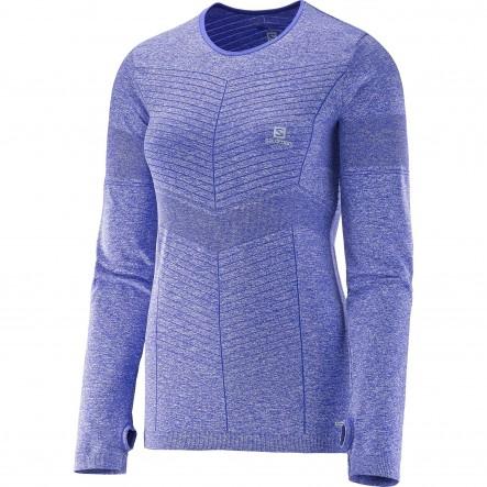 Bluza alergare Salomon Elevate Seamless Ls-Violet
