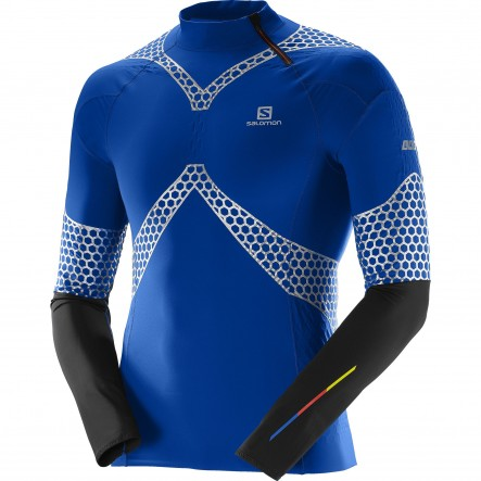 Bluza alergare Salomon S-Lab Exo Jerey-Albastru