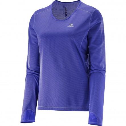 Bluza alergare Salomon Trail Runner Ls-Violet