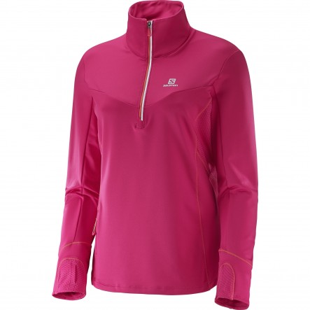 Bluza alergare Salomon Trail Runner Warm Mid-Roz