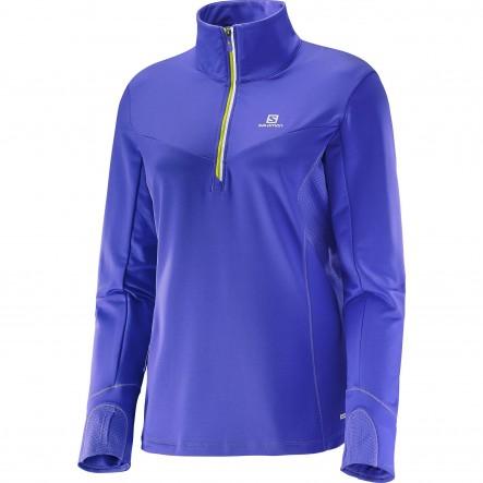 Bluza alergare Salomon Trail Runner Warm Mid-Violet