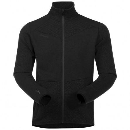 Bluza cu lana Merinos Bergans Middagstind - Negru