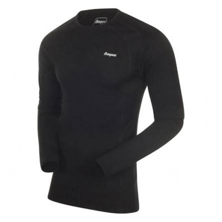 Bluza de corp 100% lana Merino Bergans Fjellrapp - Negru