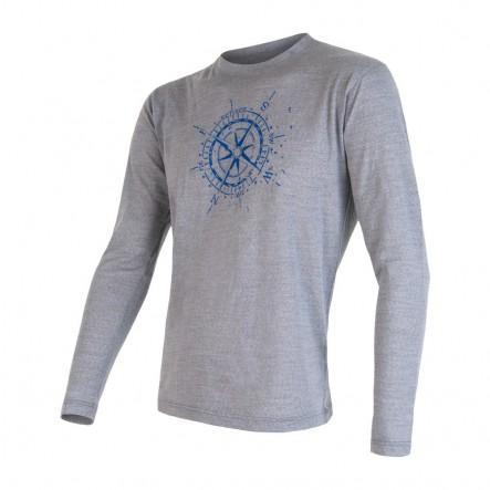 Bluza de corp barbati Sensor 100% lana Merinos Active Compass - Gray