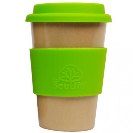 Cana biodegradabila EcoSoulLife Cafe Traveler - Verde