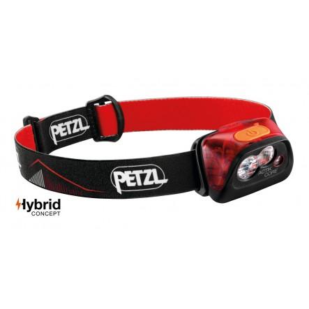 Lanterna frontala Petzl Actik Core Hybrid - Negru/Rosu (2019)