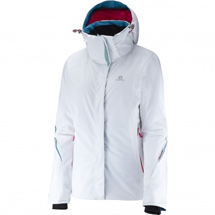 Geaca ski Salomon Brilliant-Alb