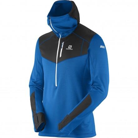 Geaca softshell Salomon S-Lab X Alp Mid Hood-Albastru