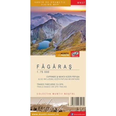 Harta de drumetie Fagaras - Muntii Nostri
