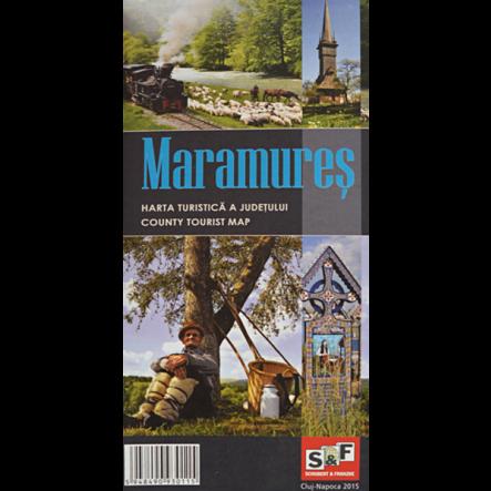 Harta turistica a Judetului Maramures ed. 2  de la Muntii Nostri